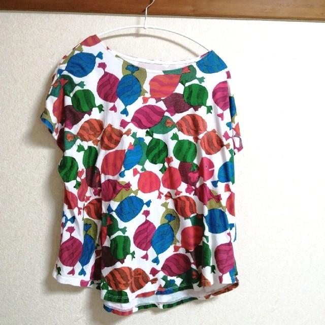 Graniph(グラニフ)のgraniph グラニフ 五味太郎 きんぎょがにげた 半袖 シャツ レディース レディースのトップス(Tシャツ(半袖/袖なし))の商品写真