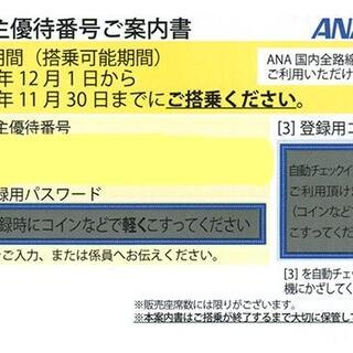 ※大至急対応※ ANA 全日空 株主優待 2枚 21/5/31 半額 割引券(航空券)