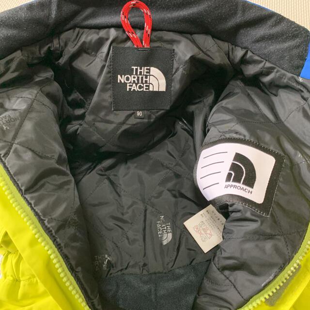 THE NORTH FACE(ザノースフェイス)の中綿入り!ノースフェイス 90 100 スキーウェア キッズ つなぎ グリーン スポーツ/アウトドアのスキー(ウエア)の商品写真