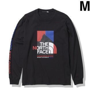 ザノースフェイス(THE NORTH FACE)のノースフェイス ロングスリーブカラコラムレンジティー M ブラック 新品未使用(Tシャツ/カットソー(七分/長袖))
