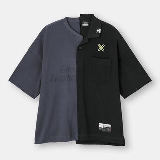 ミハラヤスヒロ(MIHARAYASUHIRO)の【新品】M GU ミハラヤスヒロ 5分丈 オーバーサイズ Tシャツ(Tシャツ/カットソー(半袖/袖なし))