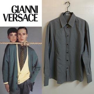 ジャンニヴェルサーチ(Gianni Versace)のGIANNI VERSACE VINTAGE 90s ITALY製 ドレスシャツ(シャツ)