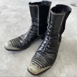 プラダ(PRADA)の希少 PRADA プラダ ダメージ 加工 サイドゴア ブーツ 靴 6 1/2(ブーツ)