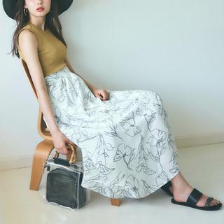 one*way - one way♡フラワー線描きマーメイドスカート