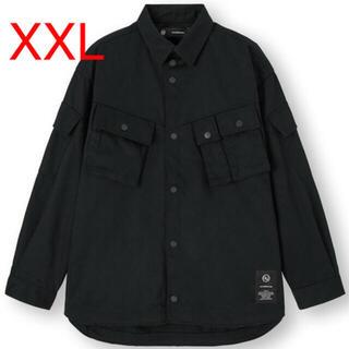 GU - GU UNDERCOVER ミリタリージャケット XXL BLACK