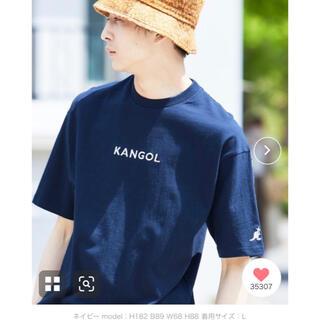 カンゴール(KANGOL)のKANGOL コットンTシャツ 半袖 ネイビー(Tシャツ/カットソー(半袖/袖なし))