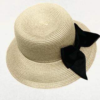 フリークスストア(FREAK'S STORE)のフリークストア  帽子 麦わら帽子 ストローハット 黒リボン(麦わら帽子/ストローハット)