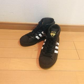 アディダス(adidas)のadidas PRO MODEL アディダス スニーカー 黒  ブラック(スニーカー)