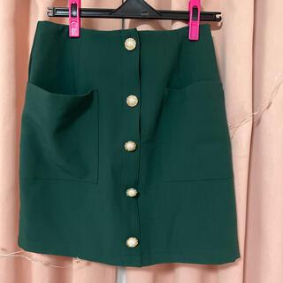 アーカイブ(Archive)のスカート♡深緑(ミニスカート)