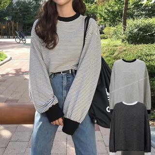 GOGOSING - 韓国 ボーダー Tシャツ