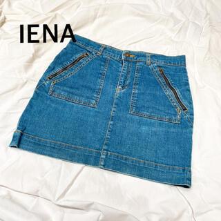 IENA - 【美品】イエナ IENA デニムミニスカート デニムスカート