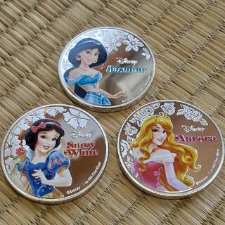 ディズニー(Disney)のディズニー カラーコイン 3枚セット(貨幣)