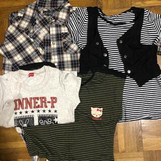 インナープレス(INNER PRESS)のインナープレス他 140トップス 4枚セット(Tシャツ/カットソー)