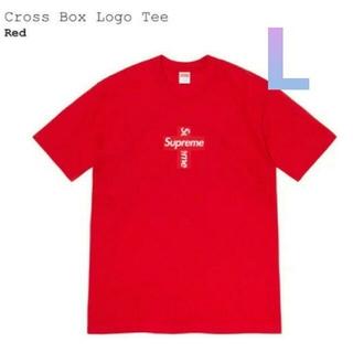 シュプリーム(Supreme)のsupreme cross box logo tee Red L(Tシャツ/カットソー(半袖/袖なし))