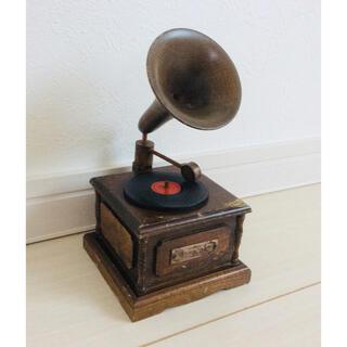 ジャンク*蓄音機 オルゴール*日本製 アンティーク(オルゴール)