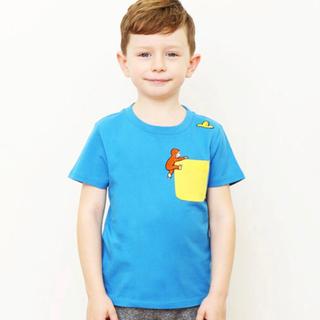 Design Tshirts Store graniph - おさるのジョージ グラニフ Tシャツ 黄色い帽子 刺繍 90  80