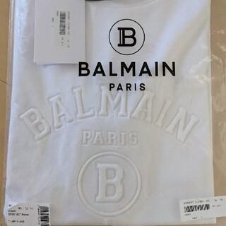 【新品正規品】BALMAIN  ロゴプリントコットンTシャツ