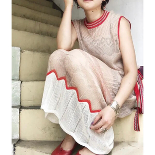 mame - mame kurogouchi キャンディプリーツニットドレス ワンピース