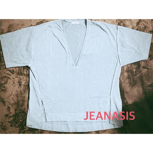JEANASIS(ジーナシス)のジーナシス JEANASIS カットソー まとめ割あり 半袖 オーバーサイズ レディースのトップス(カットソー(半袖/袖なし))の商品写真