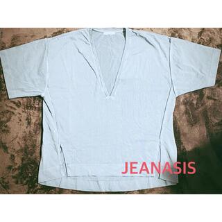 JEANASIS - ジーナシス JEANASIS カットソー Vネック 半袖 オーバーサイズ