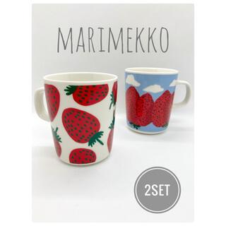 marimekko - マリメッコ Mansikka マンシッカ マンシッカヴォレット マグカップ