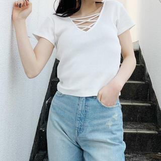 アンビー(ENVYM)のENVYMレースアップトップス(Tシャツ(半袖/袖なし))