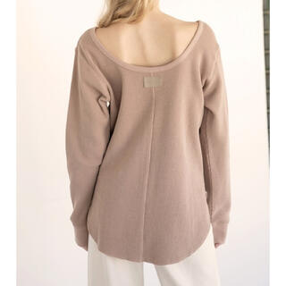 ALEXIA STAM open back waffle top