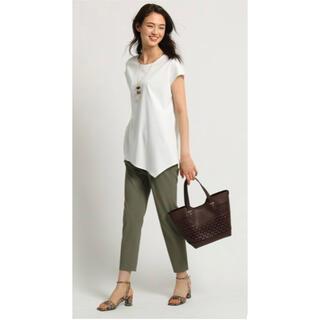 インディヴィ(INDIVI)の新品INDIVI スムースアシメカットソー インディヴィ 変形tシャツ シャツ(カットソー(半袖/袖なし))