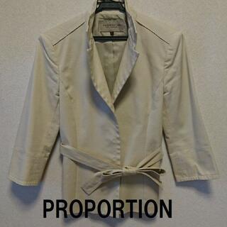 プロポーションボディドレッシング(PROPORTION BODY DRESSING)の★格安 PROPORTION(プロポーション) ジャケット ベージュ★(テーラードジャケット)
