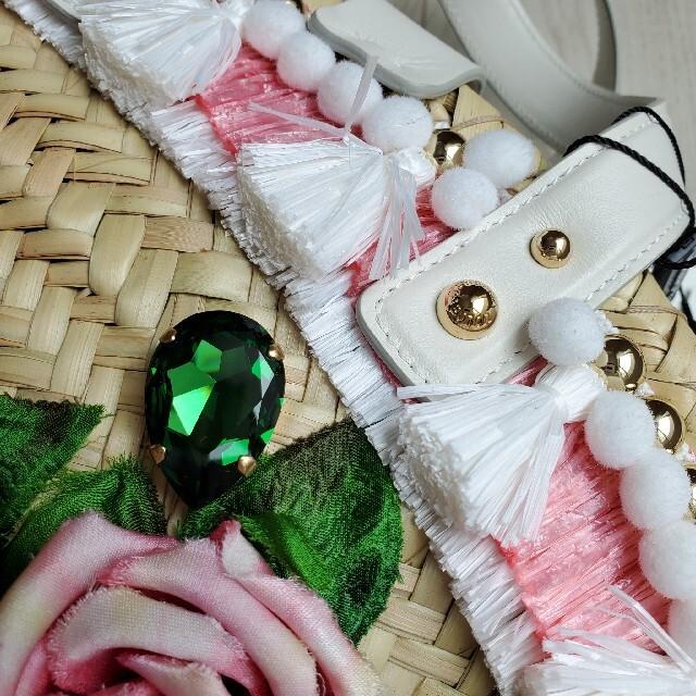 DOLCE&GABBANA(ドルチェアンドガッバーナ)のドルチェ&ガッパーナ かごバッグ バラ ケンドラ コッファ 20SS 未使用 レディースのバッグ(かごバッグ/ストローバッグ)の商品写真