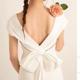 バックリボンドレス ウェディングドレス 前撮りドレス(ウェディングドレス)