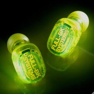 オンキヨー(ONKYO)の光る! オンキョー 完全ワイヤレスイヤホン FULL-BKコラボ 黄色(ヘッドフォン/イヤフォン)