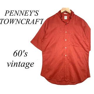 ダブルアールエル(RRL)の60年代 ビンテージ ペニーズ タウンクラフト 半袖シャツ Penneys(シャツ)