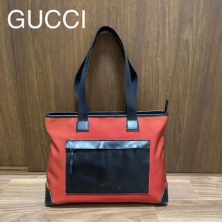 Gucci - GUCCI グッチ キャンバス レザー トートバッグ