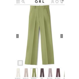 GRL - グレイル  センタープレスストレートパンツ