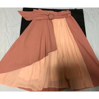 アラマンダ(allamanda)のアラマンダ プリーツ入りフレアスカート ベルト付き(ひざ丈スカート)