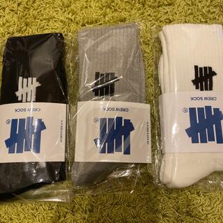 アンディフィーテッド(UNDEFEATED)のundefeated ソックス sock 靴下 3足セット(ソックス)