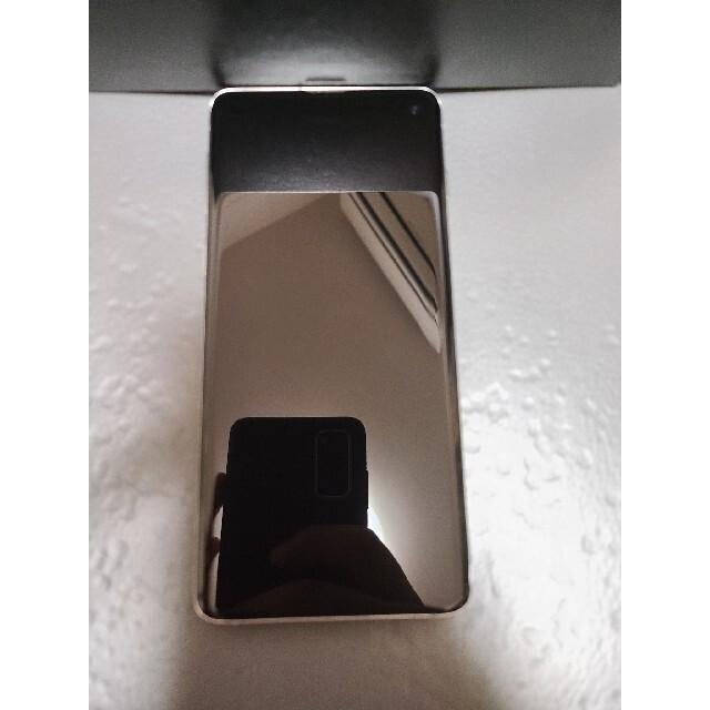 SAMSUNG(サムスン)のSamsung Galaxy S10 SM-G973C 白 スマホ/家電/カメラのスマートフォン/携帯電話(スマートフォン本体)の商品写真