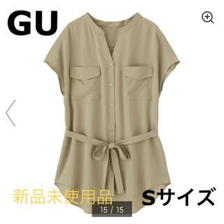 GU - ダブルポケットチュニックシャツ