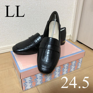 PRIVATE LABEL - パンプス 【ゴールドヒール】シンプルローファー 黒 24.5センチ