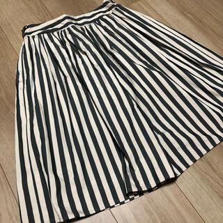 アンレリッシュ(UNRELISH)のストライプ フレアスカート(ひざ丈スカート)