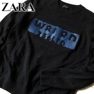 ザラ(ZARA)の美品 (EUR)L ザラ ZARA MAN メンズ ニット ブラック(ニット/セーター)