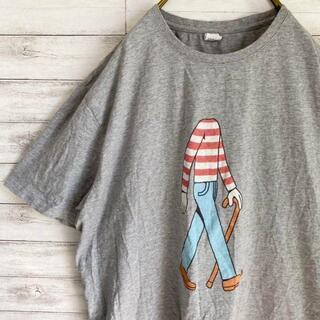 プリントTシャツ 半袖 ウォーリー メンズ3XL グレー 古着(Tシャツ/カットソー(半袖/袖なし))