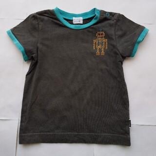 ハッカベビー(hakka baby)のHakka Baby 半袖 Tシャツ 濃い グレー 90 cm 子供(Tシャツ/カットソー)