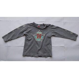 ハッカベビー(hakka baby)のHakka Baby 長袖 Tシャツ グレー 95 cm 子供(Tシャツ/カットソー)