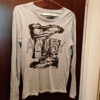 ピーピーエフエム(PPFM)のPPFM ピーピーエフエム 長袖Tシャツ カットソー メンズ グレー(Tシャツ/カットソー(七分/長袖))