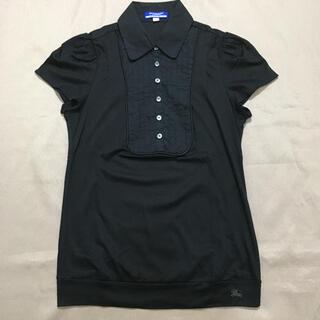BURBERRY BLUE LABEL - ポロシャツ バーバリーブルーレーベル 38 ブラウス ブラック 黒