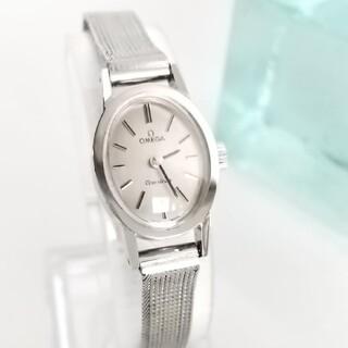 OMEGA - ⭐OH済 綺麗 オメガ オーバルミニ メッシュ レディース腕時計 着物 ギリ美品