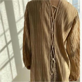 新品未使用タグ付き!amiur ♡vertical wrinkles dress(ロングワンピース/マキシワンピース)