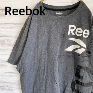 リーボック(Reebok)のリーボック Reebok Tシャツ 半袖 プリント メンズXL グレー 古着(Tシャツ/カットソー(半袖/袖なし))